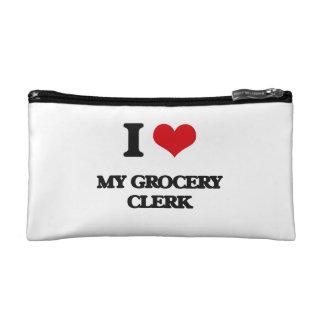 I Love My Grocery Clerk Cosmetic Bag