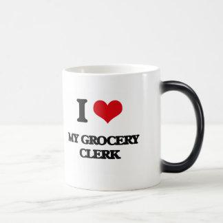 I Love My Grocery Clerk Mugs