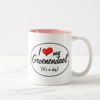 I Love My Groenendael (It's a Dog) Coffee Mugs
