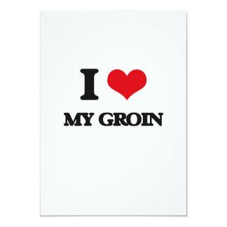 I Love My Groin 5x7 Paper Invitation Card