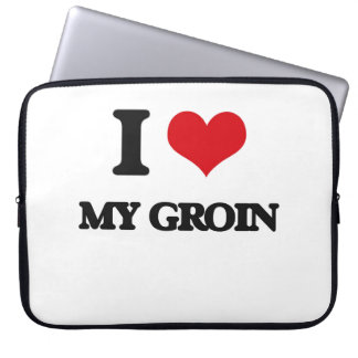 I Love My Groin Computer Sleeves