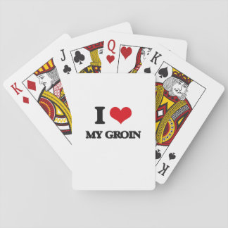 I Love My Groin Poker Cards