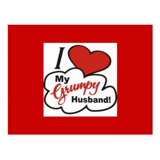 I Love My Grumpy Husband Postcard