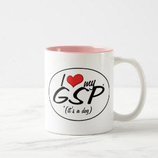 I Love My GSP (It's a Dog) Two-Tone Coffee Mug