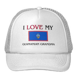 I Love My Guamanian Grandma Mesh Hats