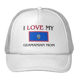 I Love My Guamanian Mom Mesh Hats