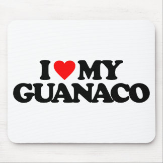 I LOVE MY GUANACO MOUSE PADS