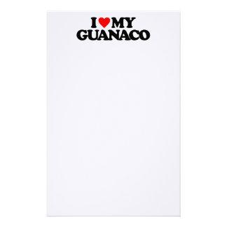 I LOVE MY GUANACO CUSTOMIZED STATIONERY