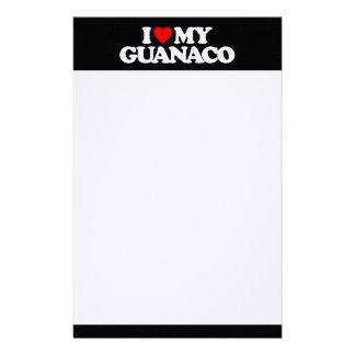I LOVE MY GUANACO STATIONERY DESIGN