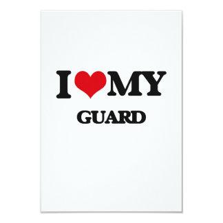 I love my Guard 3.5x5 Paper Invitation Card