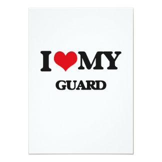 I love my Guard 5x7 Paper Invitation Card
