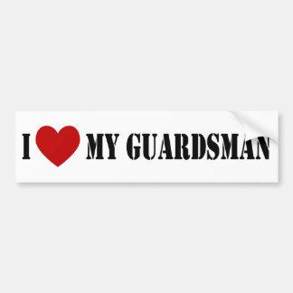 I Love My Guardsman Bumper Sticker