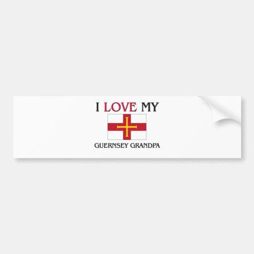 I Love My Guernsey Grandpa Bumper Sticker