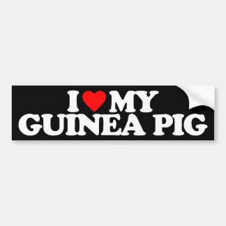 I LOVE MY GUINEA PIG BUMPER STICKER