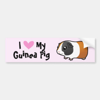 I Love My Guinea Pig Cavy smooth hair Bumper Sticker