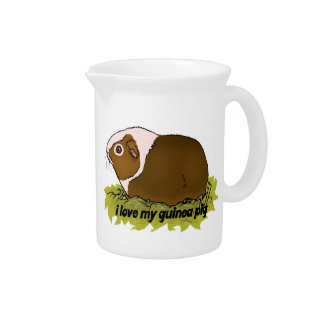 I Love My Guinea Pig Drink Pitcher