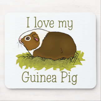 I Love my Guinea Pig Mouse Mats