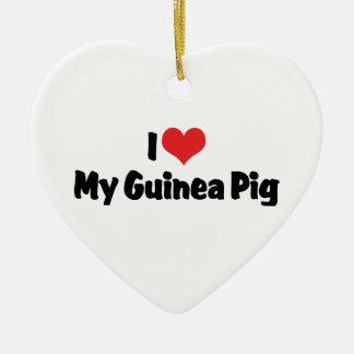 I Love My Guinea Pig Ornament