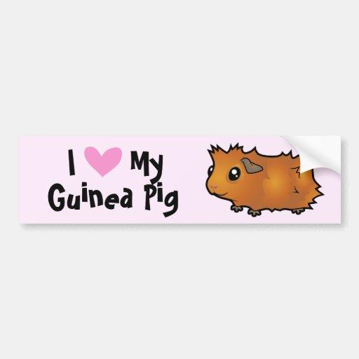 I Love My Guinea Pig (scruffy) Bumper Sticker
