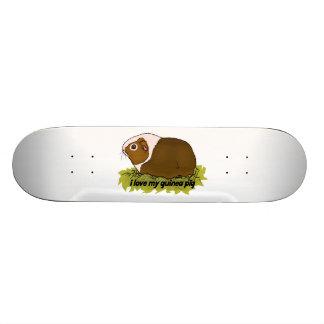 I Love My Guinea Pig Skateboard Deck