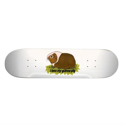 Z Pig Skateboard I Love My Guinea Pig S...