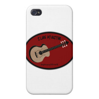 I LOVE MY GUITAR - LOVE TO BE ME iPhone 4 COVERS