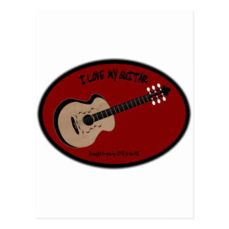 I LOVE MY GUITAR - LOVE TO BE ME POSTCARD