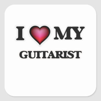 I love my Guitarist Square Sticker