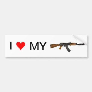 I love my gun. (AK-47) Bumper Sticker