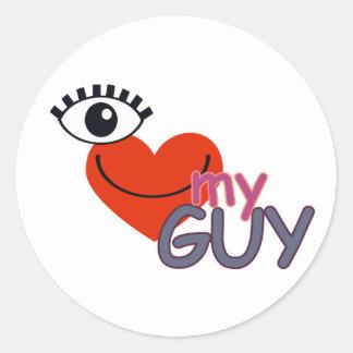 I Love My Guy - I Love My Girl Classic Round Sticker