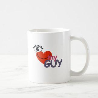 I Love My Guy - I Love My Girl Classic White Coffee Mug