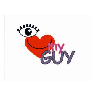 I Love My Guy - I Love My Girl Postcard