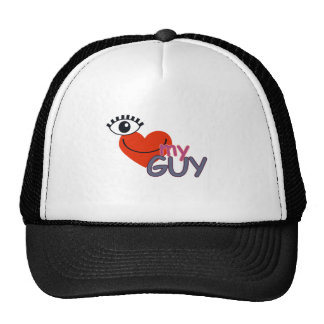 I Love My Guy - I Love My Girl Trucker Hat