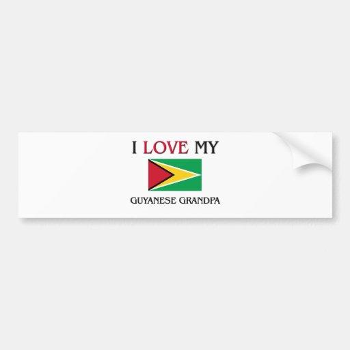 I Love My Guyanese Grandpa Bumper Sticker