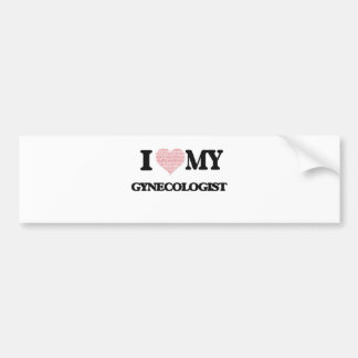 I love my Gynecologist (Heart Made from Words) Car Bumper Sticker