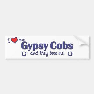 I Love My Gypsy Cobs (Multiple Horses) Bumper Sticker