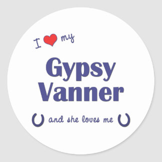 I Love My Gypsy Vanner (Female Horse) Stickers