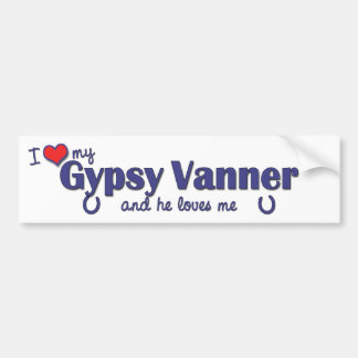 I Love My Gypsy Vanner (Male Horse) Car Bumper Sticker