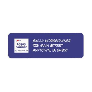 I Love My Gypsy Vanner (Male Horse) Return Address Label