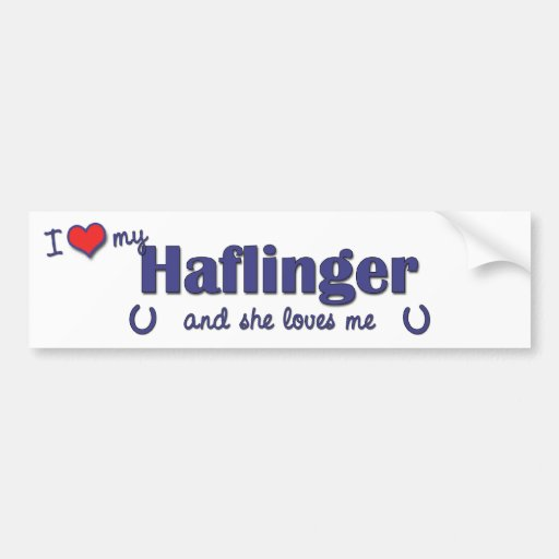 I Love My Haflinger (Female Horse) Bumper Sticker
