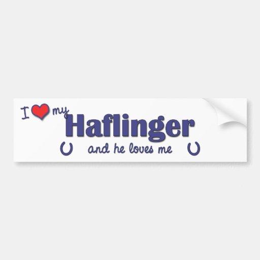 I Love My Haflinger (Male Horse) Bumper Sticker