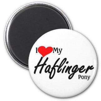 I love my Haflinger Pony 2 Inch Round Magnet
