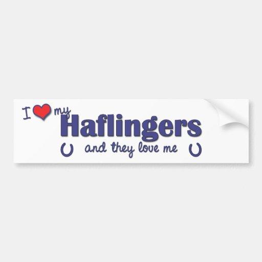 I Love My Haflingers (Multiple Horses) Bumper Sticker