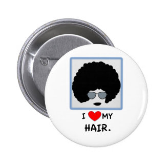 I love my Hair - Afro Button