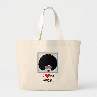 I love my Hair - Afro Large Tote Bag