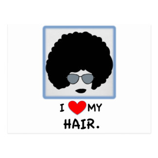 I love my Hair - Afro Postcard