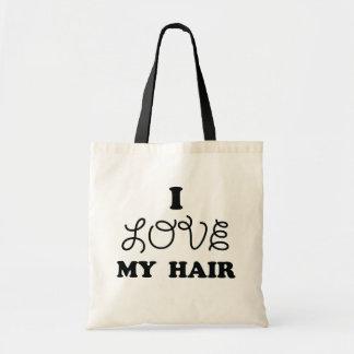 I love my hair canvas bag