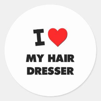 I love My Hair Dresser Stickers