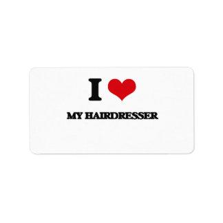 I Love My Hairdresser Address Label