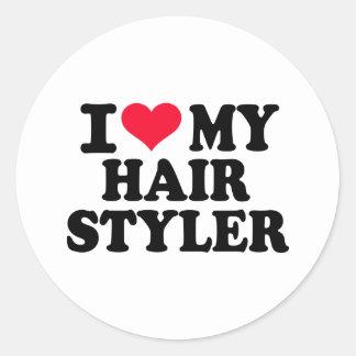 I love my Hairstyler Round Sticker